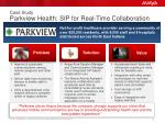 case study parkview health sip for real time collaboration