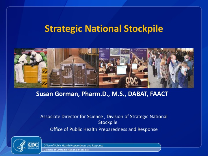 strategic national stockpile n.