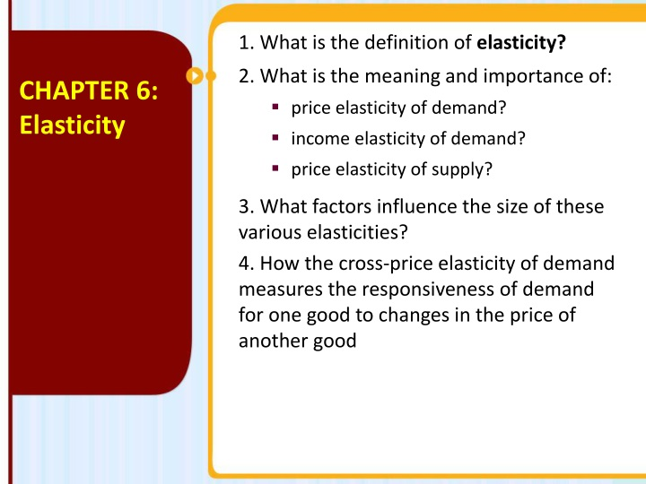 Ppt 1 What Is The Definition Of Elasticity 2 What Is The Meaning And Importance Of Powerpoint Presentation Id 1502634