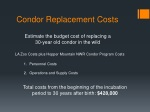 condor replacement costs