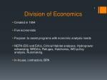 division of economics