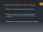 economic analysis for rule making