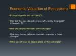 economic valuation of ecosystems