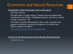 economics and natural resources
