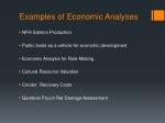 examples of economic analyses