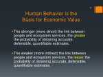 human behavior is the basis for economic value