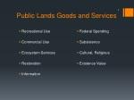 public lands goods and services