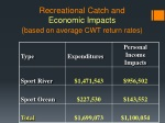 recreational catch and economic impacts based on average cwt return rates