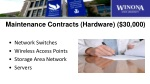 maintenance contracts hardware 30 000