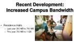 recent development increased campus bandwidth