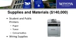 supplies and materials 140 000