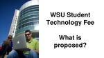 wsu student technology fee what is proposed