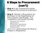 6 steps to procurement con t