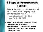 6 steps to procurement con t1