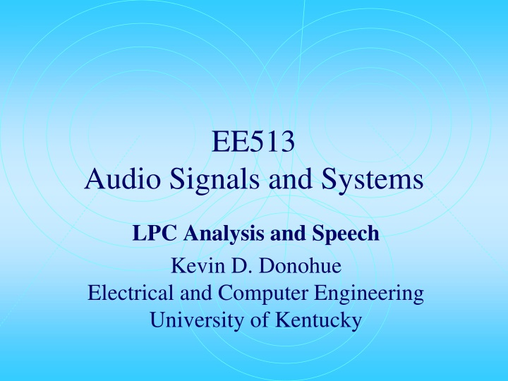 ee513 audio signals and systems n.