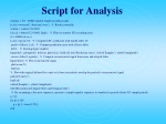 script for analysis