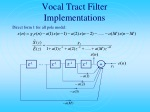 vocal tract filter implementations