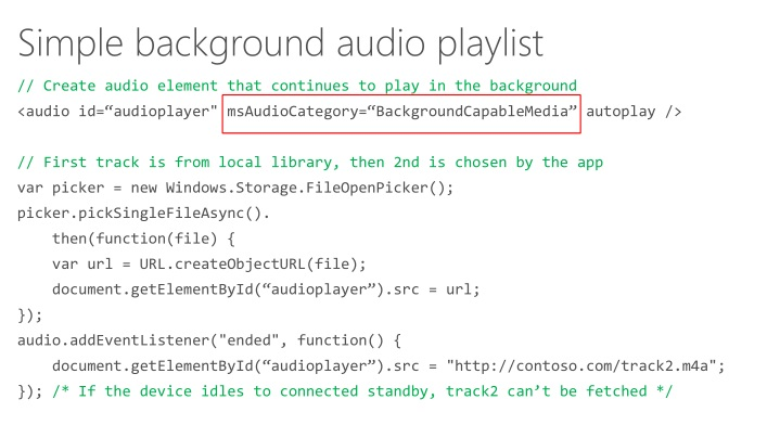 PPT - Creating apps that use video and audio PowerPoint