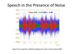 speech in the presence of noise