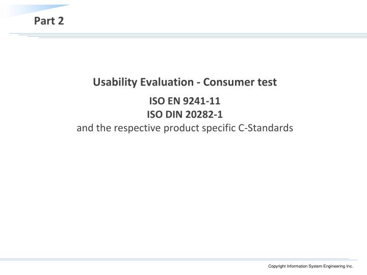 Usability Evaluation - Consumer test