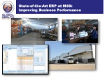 state of the art erp at msd improving business performance