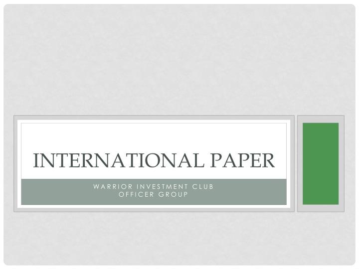 international paper n.