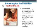 tip 1 analyze the job