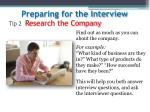 tip 2 research the company