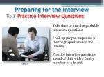 tip 3 practice interview questions
