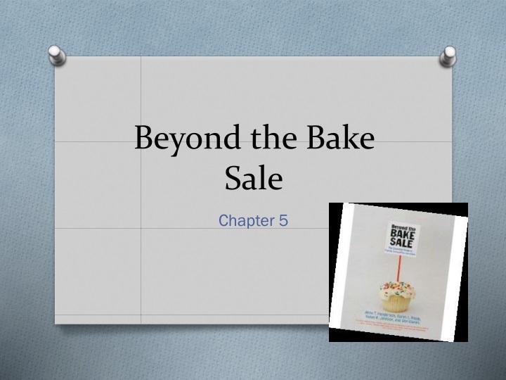 beyond the bake sale n.