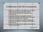 collaborate with the community