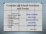 consider all s chool a ctivities and events