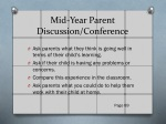 mid year parent discussion conference