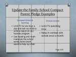 update the family school compact parent pledge examples