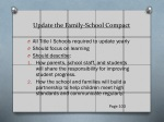 update the family school compact
