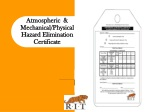 atmospheric mechanical physical hazard elimination certificate