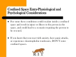 confined space entry physiological and psychological considerations 1