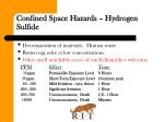 confined space hazards hydrogen sulfide