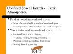 confined space hazards toxic atmospheres