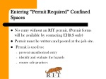 entering permit required confined spaces