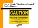 how to identify non permit required confined spaces