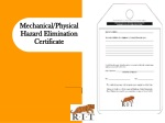 mechanical physical hazard elimination certificate