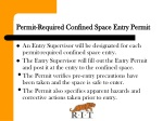 permit required confined space entry permit