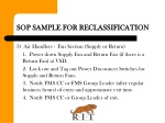 sop sample for reclassification