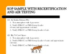 sop sample with recertification and air testing