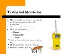 testing and monitoring