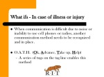 what ifs in case of illness or injury