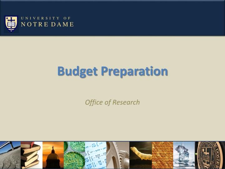 budget preparation n.
