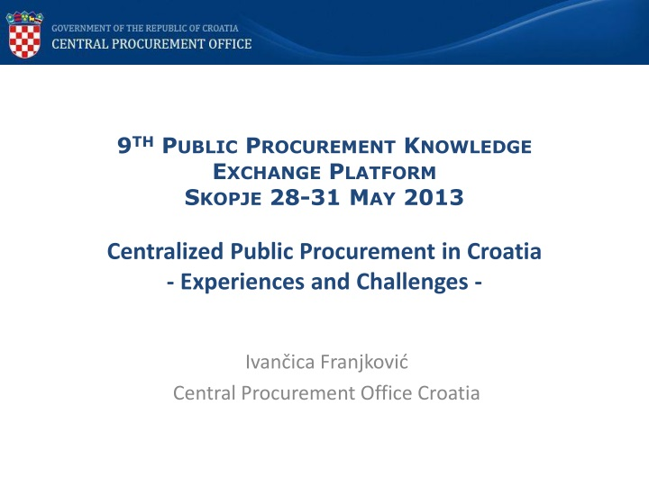 Ivan ica franjkovi central procurement office croatia