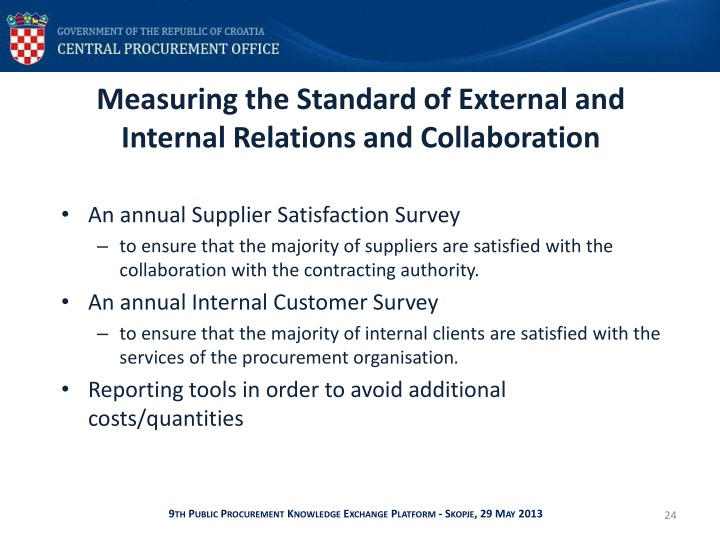 Measuring the Standard of External and Internal Relations and Collaboration